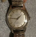 【送料無料】 腕時計 ビンテージメンズスチールスイスvintage mens karelis steel swiss wristwatch 17j self winding running