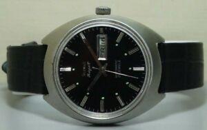 腕時計, 男女兼用腕時計  ss wristr587vintagehmtrajatvint age hmt rajat automatic day date ss wrist watch old used antique r587