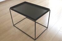 トレイテーブル400角WHガラス