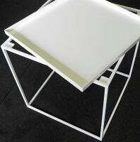トレイテーブル600×400BKトレイサイドテーブルローテーブルスタッキングシェルフ