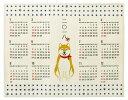 柴犬 インテリア 2018年 ジュートカレンダー ポスタータイプ メール便対応可 送料無料