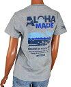 SALE ALOHA MADE アロハメイド レディース 半袖 Tシャツ (レディース グレー) 192MA2ST129 フララニ ハワイアン雑貨 ハワイアン 雑貨メール便対応可 サーフブランド ハワイアン 雑貨 ハワイ ハワイアン