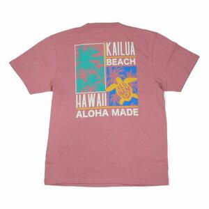 SALE ハワイアン雑貨 ハワイアン 雑貨 ALOHA MADE アロハメイド メンズ 半袖 Tシャツ (メンズ M.ピンク) 202MA1ST067 フララニ メール便対応可 サーフブランド ハワイアン 雑貨 ハワイ ハワイアン