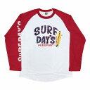 【あす楽対応】SALE ハワイアン雑貨 ハワイアン 雑貨 SURF DAY'S サーフデイズ メンズ 長袖 Tシャツ ラグランTシャツ(メンズ/L.レッド) 194SF1LT081メール便対応可 ハワイアン雑貨 メンズ 長袖 Tシャツ ハワイアン 雑貨 ハワイ サーフブランド