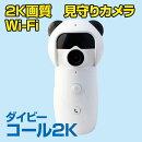 防犯カメラ 小型 遠隔 スマホ 呼び出し Wi-Fi アプリ 監視 モニタリング 見守り カメラ ペット 留守 ワイヤレス セキュリティーカメラ ベビーモニター  SDカード録画 WiFi 無線 IP ネットワークカメラ LAN 対応 高画質 ダイビーコール2K