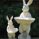 【オーナメント ガーデニング】 スタンディング バニー S 親子サイズの小さい方 【Gardening 置物 うさぎ ウサギ 動物 バードフィーダ…