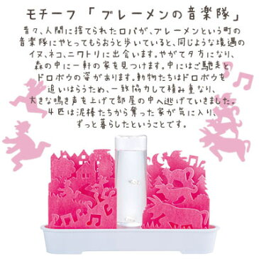 【送料無料】交換用フィルター付 自然気化式ECO加湿器 うるおいFantasy Story不思議な世界 ピンク