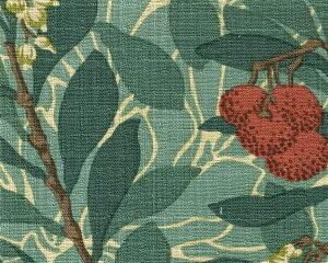 アーツ&クラフツ運動の主宰者William Morrisファブリック アービュータス arbutus イチゴノ...