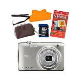 【★SD16GB&液晶保護フィルム等セット】【送料無料】ニコン(Nikon) デジタルカメラ COOLPIX A100 [カラー選択式:シルバー/レッド]
