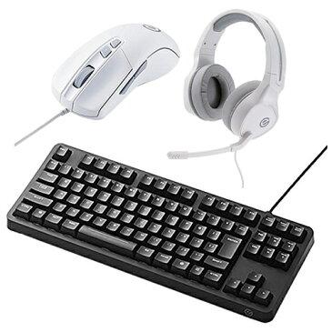 (マウス&ヘッドセット付)エレコム メカニカルゲーミングキーボード TK-G01UKBK ブラック 有線ケーブル接続タイプ (elecom) (ラッピング不可)