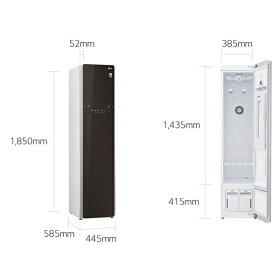 (メーカー直送/配送設置込)(代引き不可)LGエレクトロニクスS3WERホワイトスチームウォッシュ&ドライライフスタイルクローゼット「LGstyler」