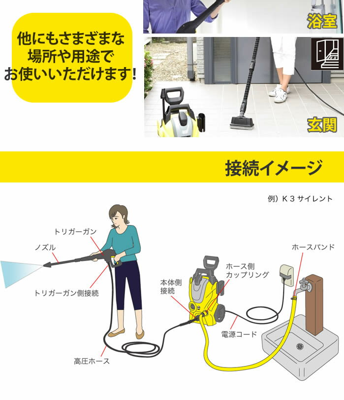 ケルヒャー 高圧洗浄機 K3サイレント(東日本 / 50HZ地域用)(ラッピング不可)