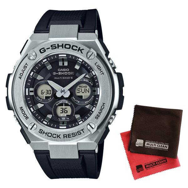【セット】【国内正規品】[カシオ]CASIO 腕時計 GST-W310-1AJF [ジーショック]G-SHOCK メンズ G-STEEL[GSTW3101AJF]&クロス2枚セット【樹脂バンド 電波ソーラー アナデジ表示】