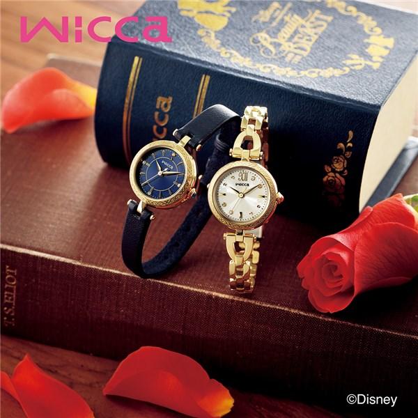 (セット)(国内正規品)(シチズン)CITIZEN 腕時計 KP3-325-31 (ウィッカ)wicca レディース Disneyコレクション 美女と野獣 限定 ベルモデル&腕時計ケース2本用 ピンク・パールブレスレット(ステンレスバンド ソーラー アナログ表示)