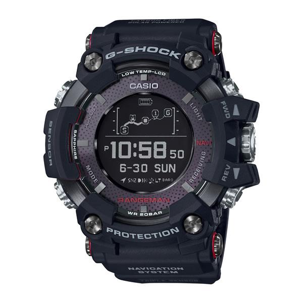 (国内正規品)(カシオ)CASIO 腕時計 GPR-B1000-1JR (ジーショック)G-SHOCK RANGEMAN メンズ Bluetooth搭載(カーボンファイバー GPSソーラー デジタル)
