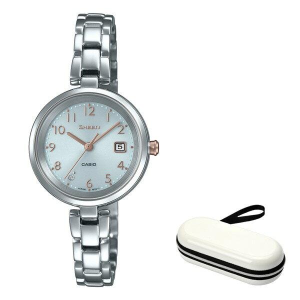 (時計ケースセット)(国内正規品)(カシオ)CASIO 腕時計 SHS-D200D-7AJF SHEEN(シーン) レディース(ステンレスバンド ソーラー アナログ)