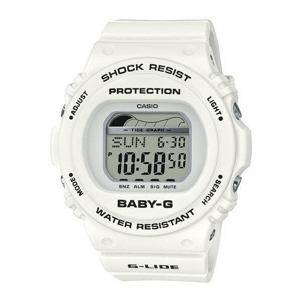 (4月新商品)(4月6日発売予定)(時計ケースセット)(国内正規品)(カシオ)CASIO 腕時計 BLX-570-7JF (ベビーG)BABY-G レディース G-LIDE タイドグラフ(樹脂バンド クオーツ デジタル)