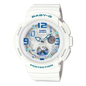 【国内正規品】CASIO[カシオ]Baby-G[ベイビーG]BGA-190-7BJF【レディースビーチ・トラベラーホワイト白アナデジ】【送料・き手数料無料】