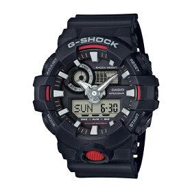 【国内正規品】CASIO(カシオ)【腕時計】GA-700-1AJFG-SHOCK[Gショック][GA7001AJF]【クオーツ樹脂バンドアナデジメンズ】【ブラックレッド】