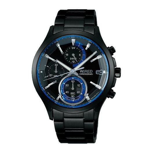 【国内正規品】【腕時計】 AGAV122 WIRED[ワイアード]【REFLECTION リフレクション】【クオーツ 多針アナログ ステンレスバンド メンズ ブラック】