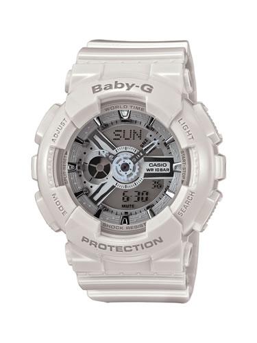 【国内正規品】 CASIO(カシオ) 【腕時計】 BA-110-7A3JF BABY-G[ベビーG ベビージー ベイビージー]  ビッグケースシリーズ  【レディース ホワイト 白 アナデジ】