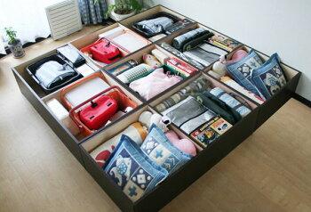 送料無料人気高床式ユニット畳畳ユニット畳収納1・5畳タイプユニット畳畳収納畳ボックスい草イ草日本製ダークブラウンロータイプ日本製