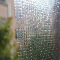 窓ガラスフィルム目隠モザイクし3D窓用フィルム目隠しモザイクタイルきらきらデザインデコレーション浴室目隠しシートおしゃれステンドグラスシャワールーム会議室に適用装飾静電気ウィンドウフィルムプライバシー守る(45x200cm)
