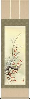 挂軸-四季花鳥(春天)/田村竹世界(供使用春天的挂軸花鳥畫挂軸在尺5、壁龕)