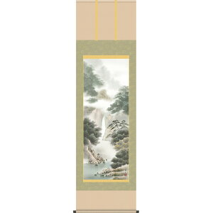 Hanging scroll-Yukei Ayaku / Hideyama Suzumura (Shakugo paulownia box) Sansui painting hanging scroll and free shipping hanging scroll [Japanese style floor floor modern gift fashionable wall hanging cheap gift gift table]