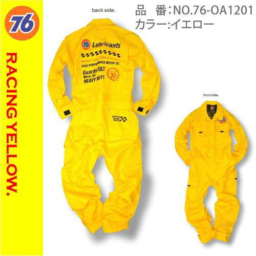 76Lubricants ツナギ/No.76-OA1201/オーバーオール イエローお...