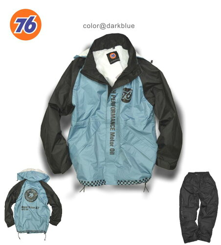 「76Lubricants(ナナロク)」ライディングレインウェア(レインスーツ)(完全防水)/No.76-RW1201...