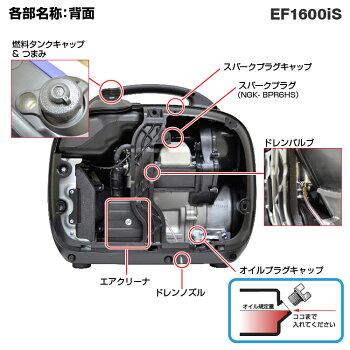 ヤマハインバーター発電機EF1600iS《購入後も安心、点検整備・修理もおまかせ、始動確認・送料無料》