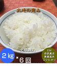 【年間契約】「大地の恵」2kg・6回発送/令和元年産 新米・EM農法・無農薬栽培米こしひかり[一括払い](定期購入)新米は9月30日からの出荷になります。