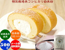 有機米使用の白米粉(ビ)「色白美人」500gメール便(送料無料)
