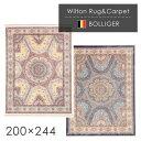 ラグ ラグマット ウィルトン織ラグ ボランジェ 200×244cm ラグ カーペット ラグマット オリエンタルカーペット 絨毯 じゅうたん モダン 高級 高密度 ウィルトン ラグ