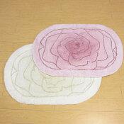 バスマット55×77『YUMIKATSURA/桂由美グラデーションローズアイボリー・ピンク』