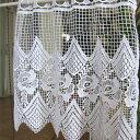 カフェカーテン(小窓用カーテン) レース 41cm丈 トルコ製 カフェ...