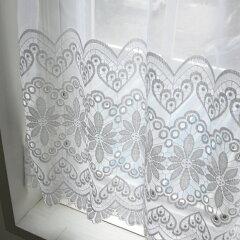 カフェカーテン(小窓用カーテン) レース 60cm丈