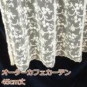 カフェカーテン(小窓用カーテン) レース 45cm丈 フランス製 カフ...