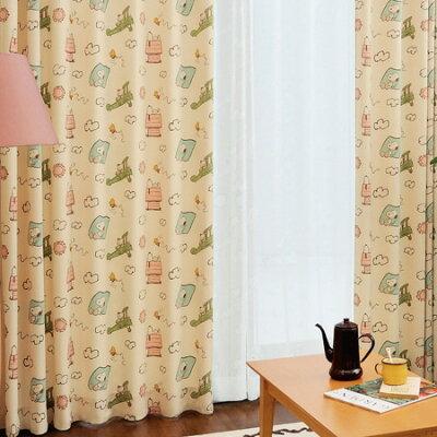 スヌーピーのキャラクターカーテン!ほのぼのとした優しい雰囲気のカーテンです。ドレープカー...