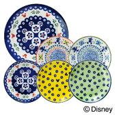 ディズニー キャラクター 食器 パーティーセット 『ポーリッシュ』 (24cmプレート×1枚 16cmプレート×5枚 セット) 『ポーリッシュ』ポタリー風にミッキーマウスをプラス おしゃれでかわいい食器セット 大皿と取り皿(小皿)のセット 新築祝い,結婚祝い,内祝いのギフトに