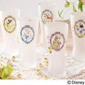 Disney食器タンブラーグラス『プリンセスグラス』白雪姫/シンデレラ/ベル/アリエル/ラプンツェル/エルサディズニープリンセスのキャラクターの大人かわいいおしゃれなビールグラスなどに使えるコップです誕生日などギフトにも最適ですあす楽対応