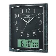 壁掛け時計TECHNOS『カレンダー』