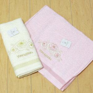 フェイスタオル34×75cm『YUMIKATSURA/桂由美グラデーションローズアイボリー・ピンク』