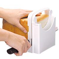食パンをお好みの厚さにカットできる食パンカットガイドパンの厚み調節可能! 食パンカットガ...