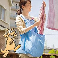 カンガルー エプロンはアイデアグッズ♪(カンガルーランドリーエプロン)洗濯の時に大活躍するエ...