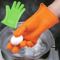 シリコーン製の手袋♪耐熱温度220度!シリコン素材の鍋つかみクッキンググローブ【耐熱温度220...