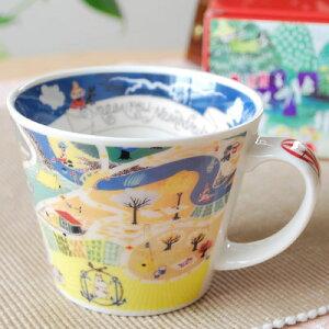 ムーミン谷の雰囲気を楽しめる ムーミン マグカップ広い飲み口タイプマップ 地図ムーミン スー...