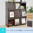 フラップキューブボックス cube 3P 3個セット キャスター付き ( カラーボックス シェルフ 棚 ディスプレイラック 本棚 キューブボックス 収納家具 小物収納 送料無料 )