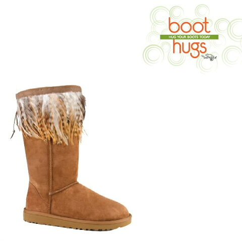【SALE】Boot Hug ブーツ アクセサリ 全4種 ムートンブーツやレザーブーツの印象を簡単に変えられるアクセサリー ファー フェザー【再入荷なし/現品限り】セール メール便可